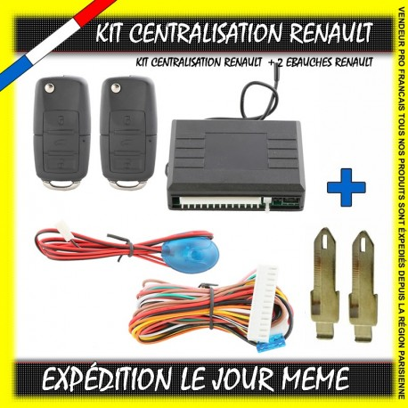 KIT CENTRALISATION RENAULT CLIO 1