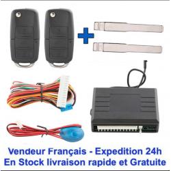 2 Sièges Baquets Sport Simili Cuir Orange/Noir