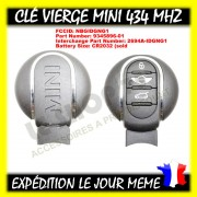 Clé vierge Mini Cooper 3 button 434mhz smart key