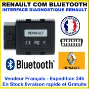 Renault-COM Bluetooth Diagnostic Complet Programmation Codage Mieux Que Can Clip