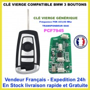 Clé vierge compatible BMW HU92 ID46 PCF7945