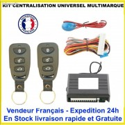 KIT CENTRALISATION UNIVERSEL FORD MUSTANG